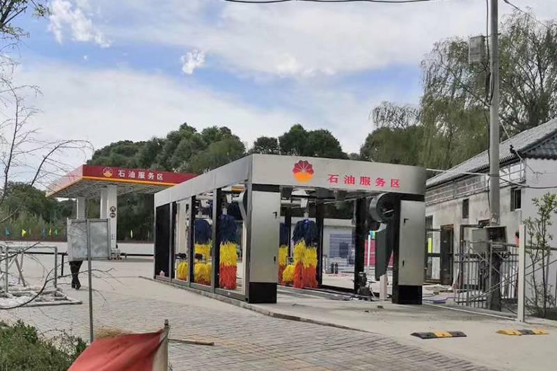青海西宁市循化县石油服务区隧道九刷安装案例