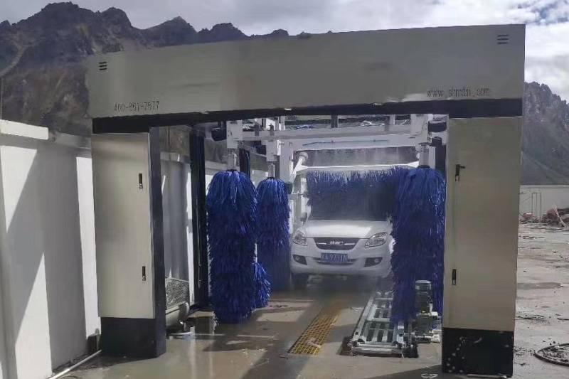 西藏拉萨那曲市新世纪加油站隧道式九刷安装案例