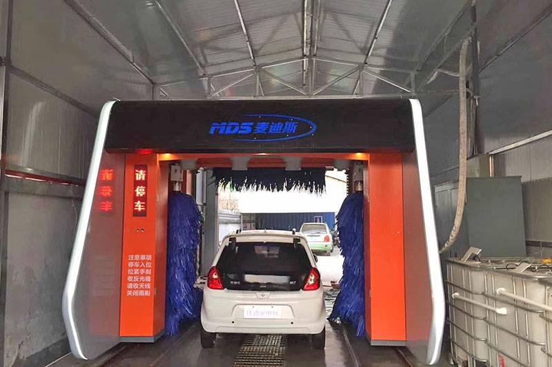 山西太原中国石化无人值守洗车机安装完成