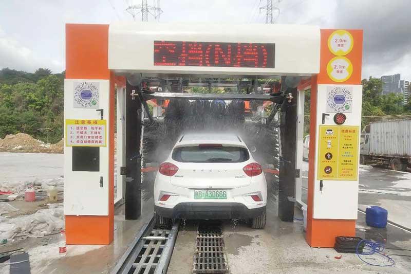 深圳无人值守隧道式洗车机安装案例