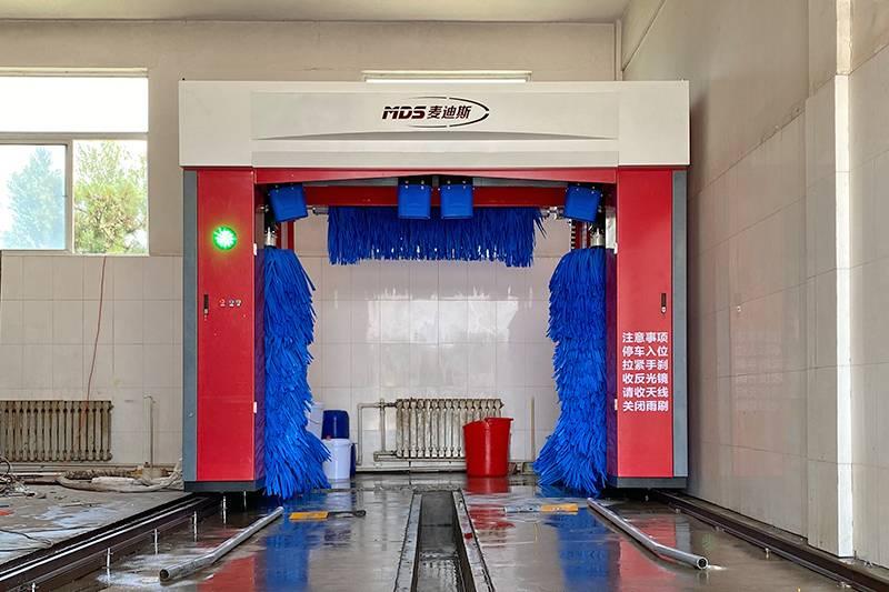 辽宁省往复式5刷洗车机安装案例