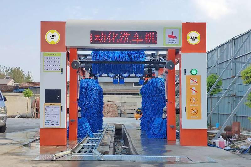 湖北隧道式9刷洗车机安装案例