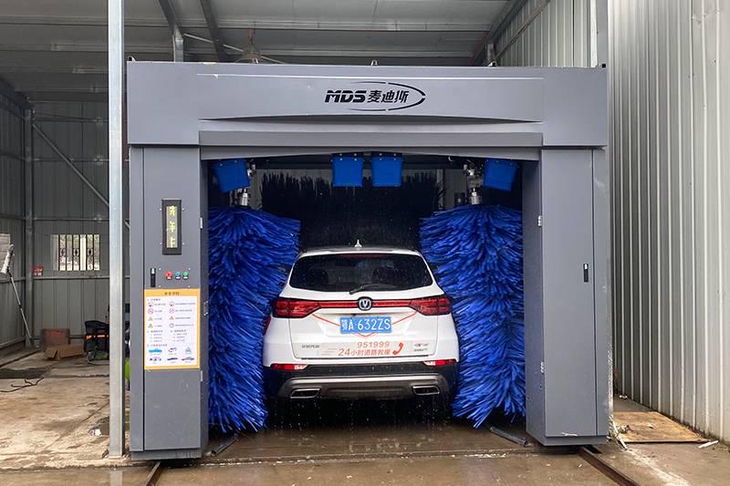 湖北武汉往复式洗车设备安装案例