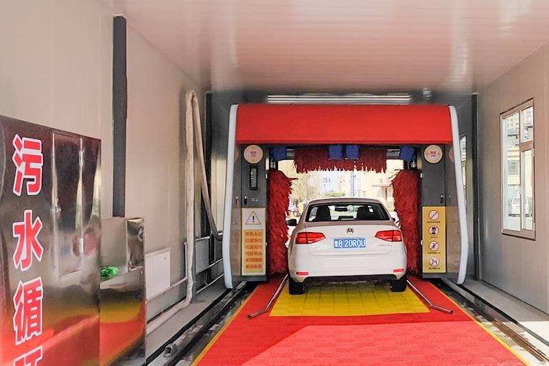 壳牌润滑油智能洗车设备安装案例