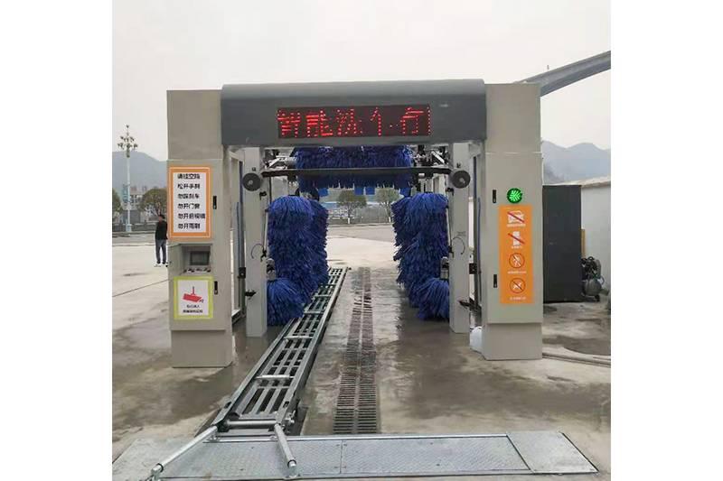 贵州铜仁隧道式洗车机安装案例