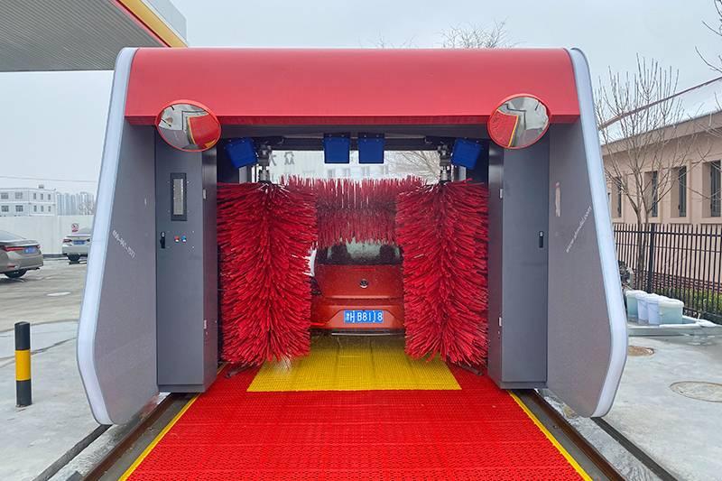 華北殼牌安裝麥迪斯無人值守全自動洗車機