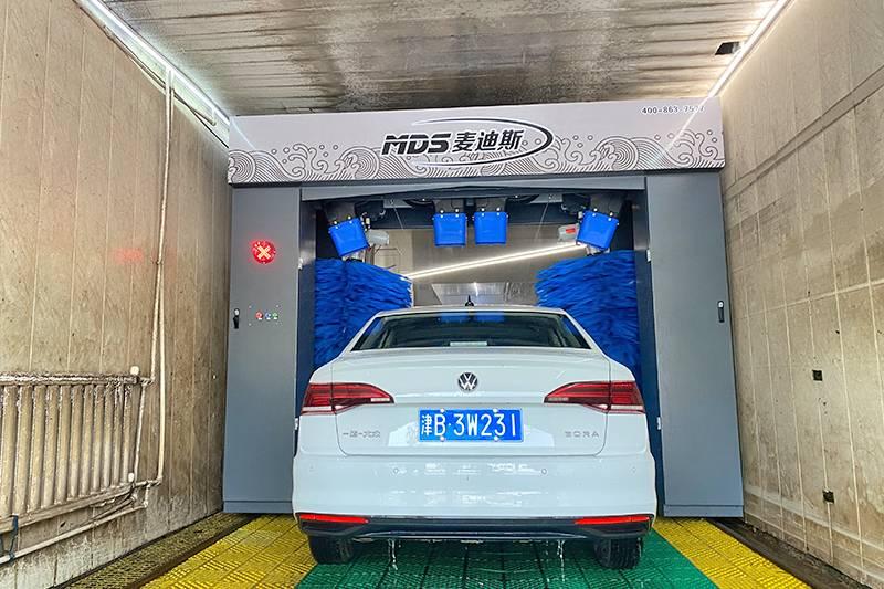 天津市往复式洗车机安装案例
