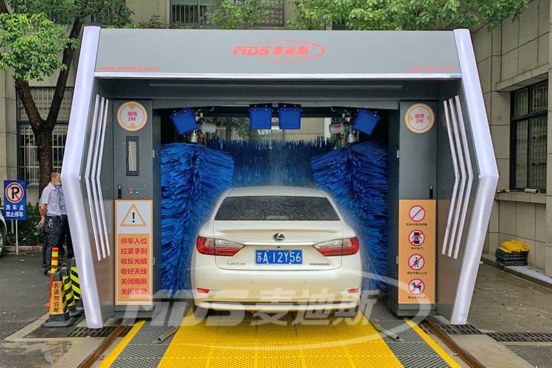 江苏镇江公安局无人值守洗车机安装案例