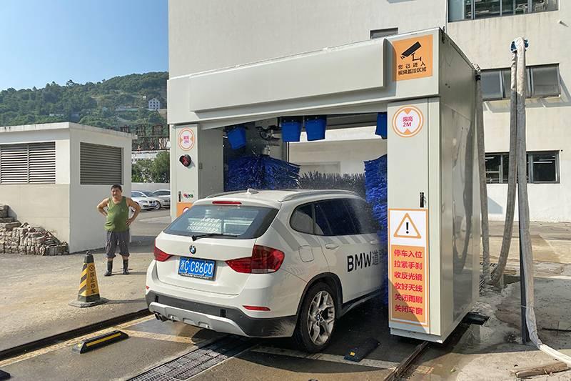 浙江温州往复式洗车机安装案例